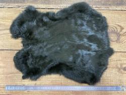 Peau de lapin vert kaki foncé poil fourrure Cuir en stock