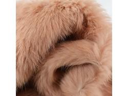 Véritable peau de lapin en poil beige Cuirenstock