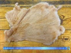 Peau de lapin en poil fourrure Cuir en Stock