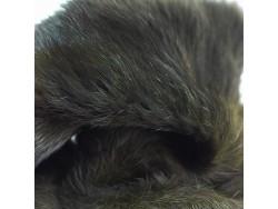Véritable peau de lapin en poil vert kaki foncé Cuirenstock