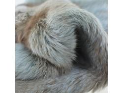 Véritable peau de lapin en poil naturel bleu ciel Cuirenstock