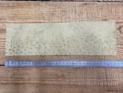 Envers cuir d'autruche beige Cuir en stock