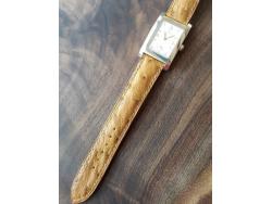 Réalisation d'un bracelet montre en cuir d'autruche exemple Cuirenstock