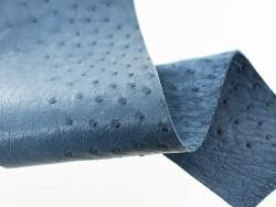 Morceau de cuir autruche bleu denim bijou accessoire bracelet de montre luxe Cuir en Stock