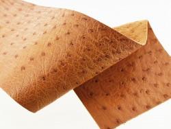 Morceau de cuir d'autruche fauve bijou accessoire déco Cuir en Stock