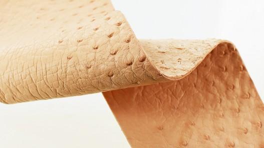 Morceau de cuir d'autruche naturel bijou accessoire luxe Cuir en Stock
