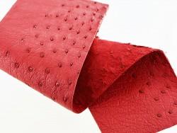 Morceau de cuir d'autruche avec picots bijou accessoire luxe Cuir en Stock