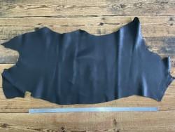 Demi-peau de cuir de taurillon togo noir Cuirenstock