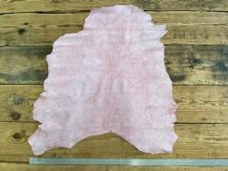 Peau de cuir de chèvre effet craquelé rose fushia Cuir en stock