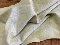 Souplesse du cuir de chèvre effet craquelé jaune Cuirenstock