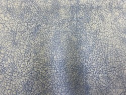 Cuir de chèvre effet craquelé bleu cyan maroquinerie Cuir en Stock