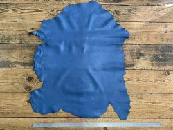 Peau de cuir de mouton métis nappa bleu denim Cuir en Stock