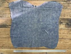 Peau de veau velours bleu denim aqua nuancé maroquinerie Cuir en Stock
