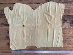 Peau de veau velours jaune très pâle maroquinerie Cuir en Stock