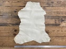 Peau de cuir de chèvre lavée blanc cassé maroquinerie Cuir en Stock