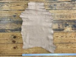 Peau de cuir de chèvre lavée taupe maroquinerie Cuir en Stock
