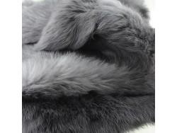 Cuir peau de lapin en poil Cuir en Stock Gris