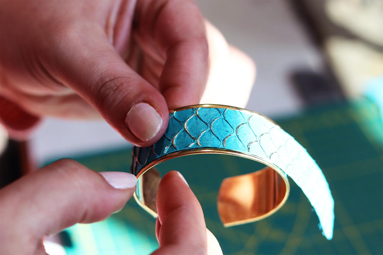 tutoriel bijoux en cuir bracelet