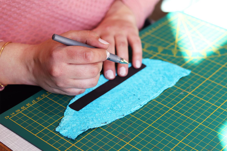 tracer patron sur cuir création bracelet Cuir en stock