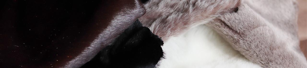 chutes de cuir au kilo peau lainée cuir en poil mouton vache et veau Cuir en Stock