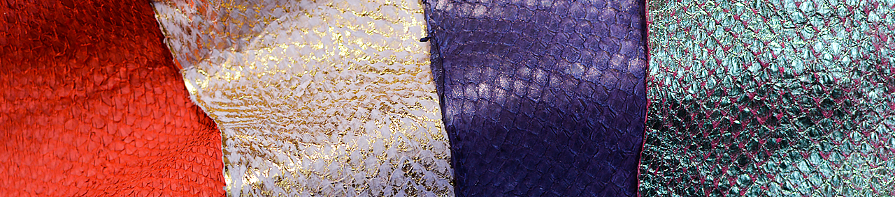 Cuir de poisson peau Saumon - Cuir Marin - Cuir en Stock