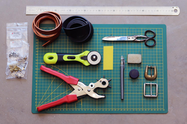 tuto DIY fabrication ceinture en cuir