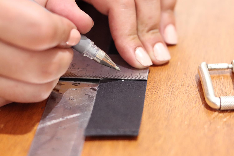 tuto diy ceinture en cuir couture cuirenstock