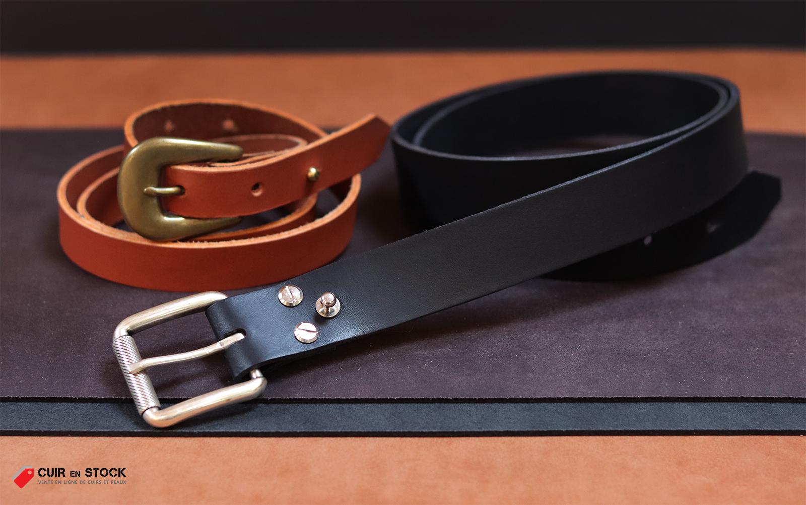 tuto diy fabriquer une ceinture en cuir cuirenstock