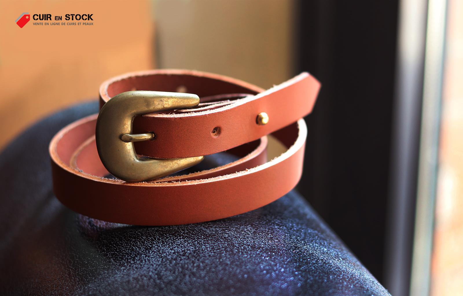 tuto DIY gratuit maroquinerie ceinture en cuir cuirenstock