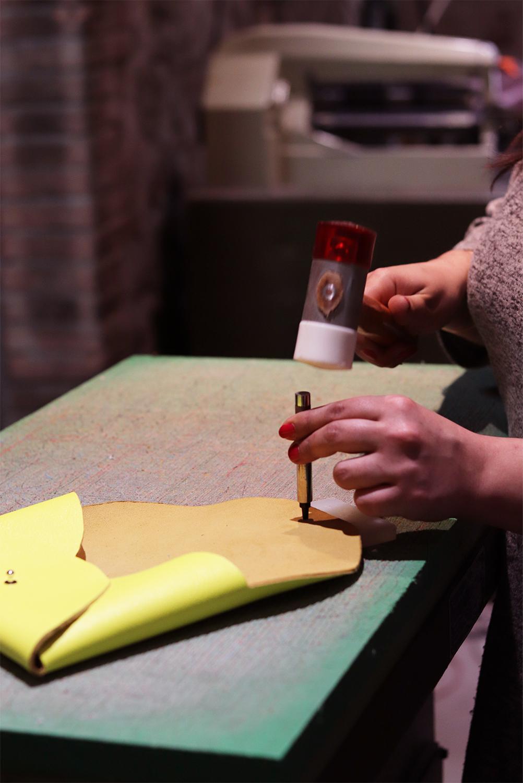 poinçon rond à frapper travail du cuir maroquinerie tuto patron gratuit sac pochette