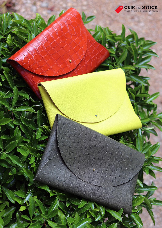 tuto DIY pochette en cuir sans couture Cuirenstock
