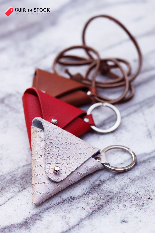 porte-monnaie en cuir tutoriel diy gratuit Cuir en Stock
