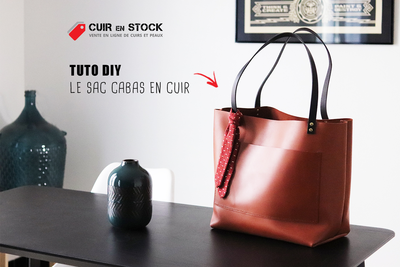 Tutoriel maroquinerie travail du cuir DIY sac Cuirenstock