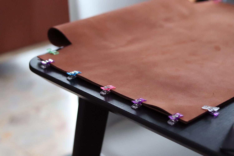 couture sac en cuir clip pince Cuir en Stock