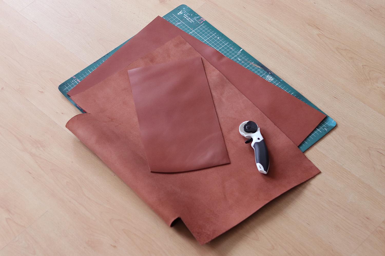 TUTO DIY cabas en cuir épais découpe cutter rotatif cuirenstock