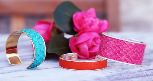 TUTO : Fabriquer un bracelet manchette en cuir avec Cuir en Stock