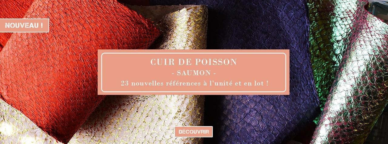 Cuir Marin - Cuir peau de Saumon - Cuir en Stock