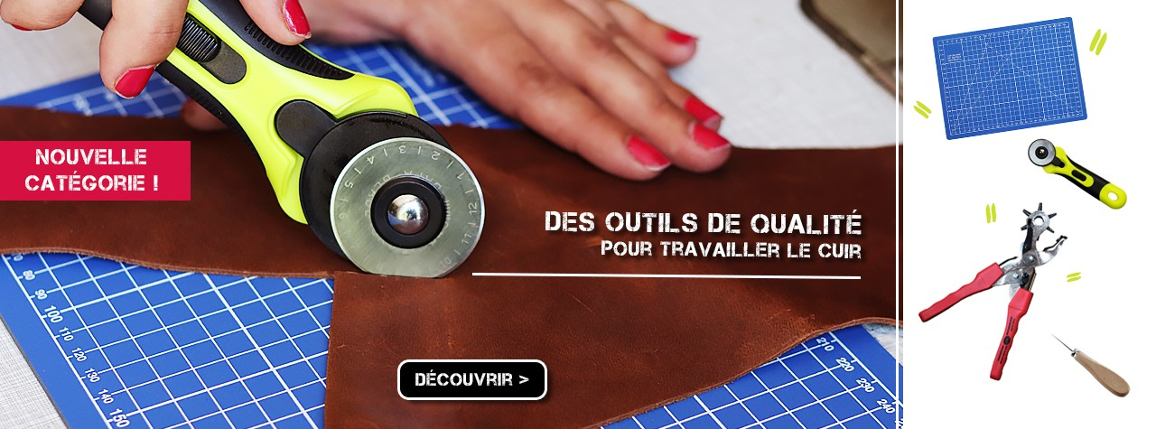 outils pour travailler le cuir Cuir en Stock