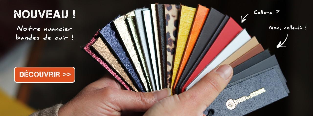 Nuancier bande de cuir lanière ceinture poignée anse de sac Cuir en Stock vente