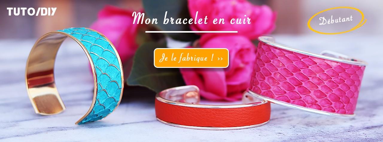 Tuto DIY bijoux en cuir - Comment fabriquer un bracelet manchette en cuir avec Cuir en Stock