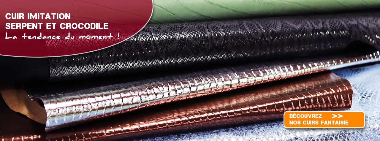 cuir imitation serpent crocodile maroquinerie tendance 2019 Cuir en Stock