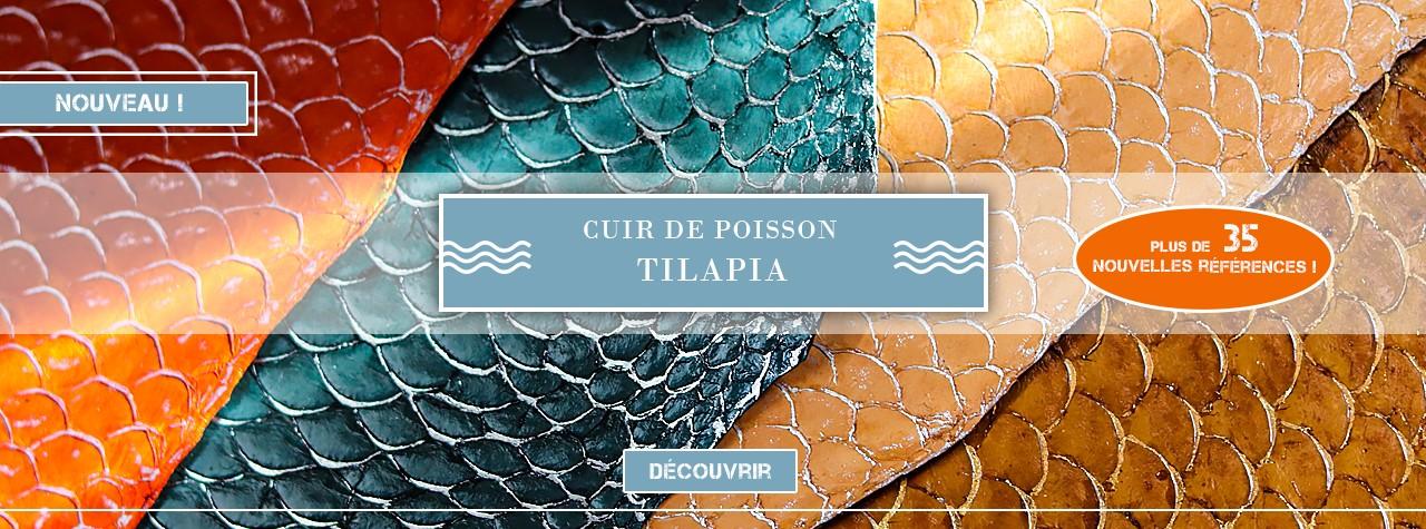 Cuir de poisson Tilapia - Cuir Marin - Cuir en Stock